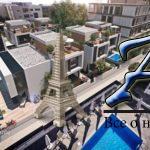 Вилла стеррасой накрыше встроящемся жилом комплексе сбассейном иподземной парковкой вцентре города,Лимассол,Кипр